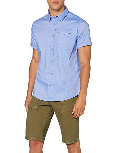 Springfield Daily Dobby Franquicias-C/12 Camisa Casual, Azul (Medium_Blue 12), Large (Tamaño del fabricante: L) para Hombre