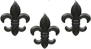 IWGAC Set of 3 Small Tin Fleur DE LIS Wall Plaque Hanging Home Wall Decor
