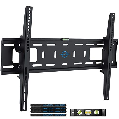 deleyCON TV Support Mural Universel 37 70 Pouces 94 178cm Inclinable 50Kg Jusqua VESA 600x400 Plasma LCD LED OLED TFT Television Fixation