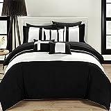 Chic Home 10-Piece Fiesta Bed-in-a-Bag Comforter Set, Queen, Black