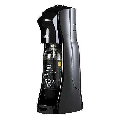 JIASHU Machine à Eau à Bulles 1L Générateur d'eau à Bulles, Générateur d'eau Scintillante, Carbonateur Non Inclus, Noir, sans préparateur de Soda pour Bouteilles de CO2