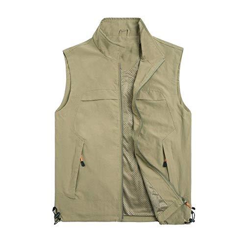 Chaleco sin mangas para hombre, chaleco de verano, para primavera, otoño, viajes, casual, varios bolsillos