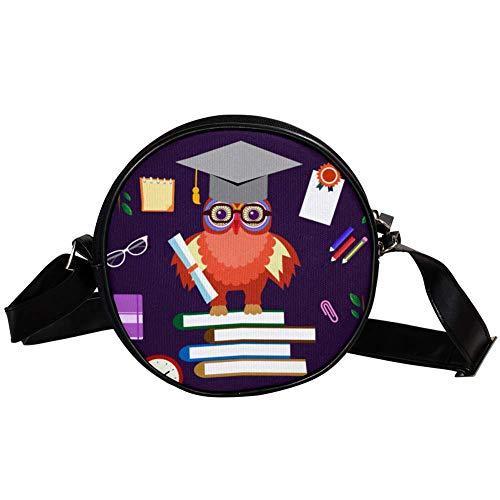 TIZORAX Dr kleine ronde Crossbody portemonnee schoudertas handtas tas voor vrouwen meisjes