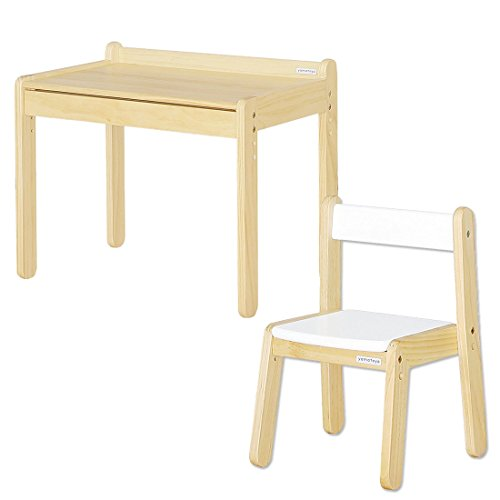 大和屋 ノスタ テーブル&リトルチェア 2点セット ホワイト 19200102 WH