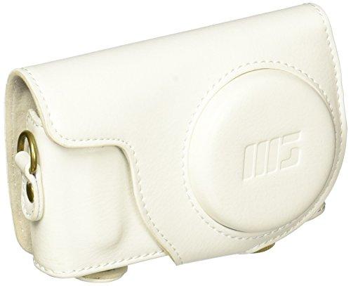 MegaGear Leder Kameratasche für Kompaktkamera Samsung NX Mini mit 9mm Objektiv-Kit (Weiß)