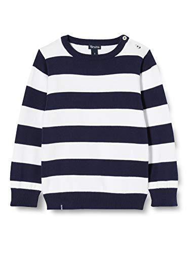 Brums Baby-Jungen Girocollo Tricot Rigato Pullover, Mehrfarbig (Bianco/Blu 01 903), 92 (Herstellergröße: 24M)