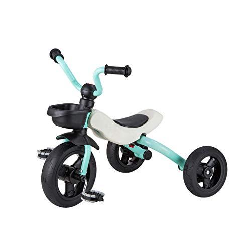 GST Triciclos Triciclo Ligero para niños de 3 a 6 años, niños Plegables 3 Ruedas Pedal Truco con neumáticos duraderos Cesta de Almacenamiento y Asiento de Seguridad (Color : B)