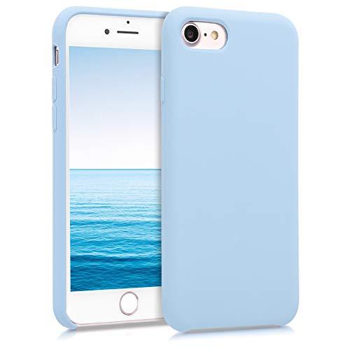 kwmobile Custodia Compatibile con Apple iPhone 7/8 / SE (2020) - Cover in Silicone TPU - Back Case per Smartphone - Protezione Gommata Celeste Pastello