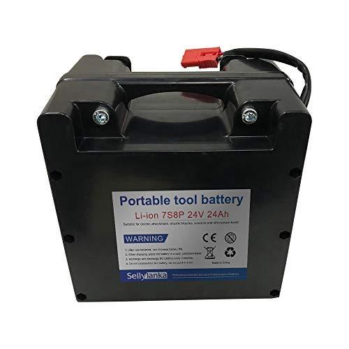 24V 24Ah 7S8P Li-ion batería dedicada a sillas de ruedas eléctricas Batería de plomo-ácido reemplazable 210 * 210 * 160mm