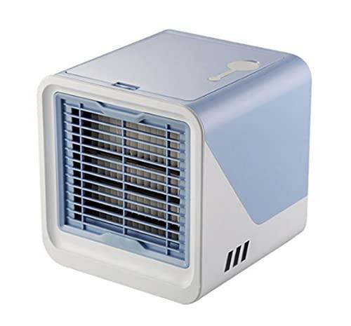 Enfriador De Aire Mini Usb Aire Acondicionado Enfriador De Aire Portátil Humidificador De Escritorio Multifunción Purificador Ventilador De Enfriamiento De Aire Para Oficina Dormitorio Azul