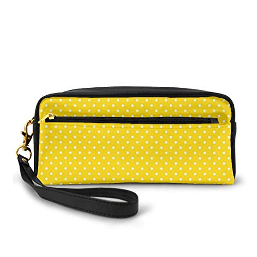 Pencil Case Pen Bag Pouch Stationary,Traditional Polka Dot Pattern Traditional European Spotty Retro Design,Small Makeup Bag Coin Purse