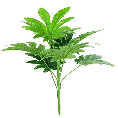 topxingch 9 Blätter/1 Stück künstliche grüne Pflanze Fatsia-Blatt Simulation Bonsai Heimdekoration Grün