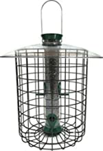 product image for Droll Yankees Domed Cage Sunflower Seed Bird Feeder, 15 Inches, 4 Ports, Green
