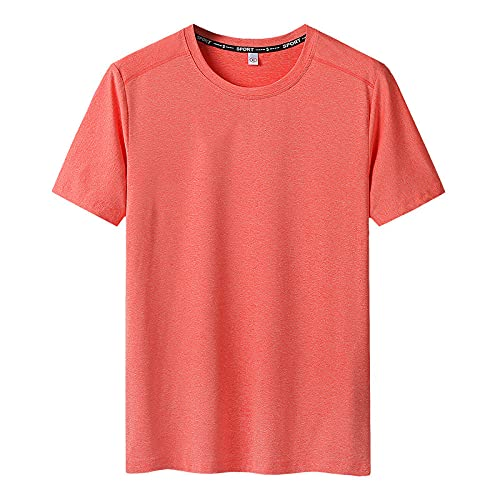 Damaifirstes Camiseta Escalada,Camiseta Speed SCREZ Dry Pete CURDIO Manos Manos Superior Superior Sudadera ELÁSTICA-Naranja_8XL