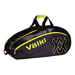 Pocket Types: 2 main compartments. Shoe compartment. Accessory pocket on both sides. Straps: Padded, adjustable backpack straps. Grab handle. Technology: No Racquet Storage: Stores up to 6 uncovered racquets. Thermal Lining: Yes