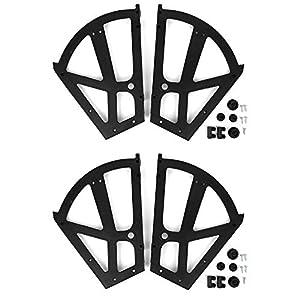 BTER Fácil de Instalar, práctico, plástico, Repuesto, Zapatero, bisagra para Armario, bisagra giratoria para Armario de Zapatos ABS, 4 Piezas/Juego para Almacenamiento en el hogar,