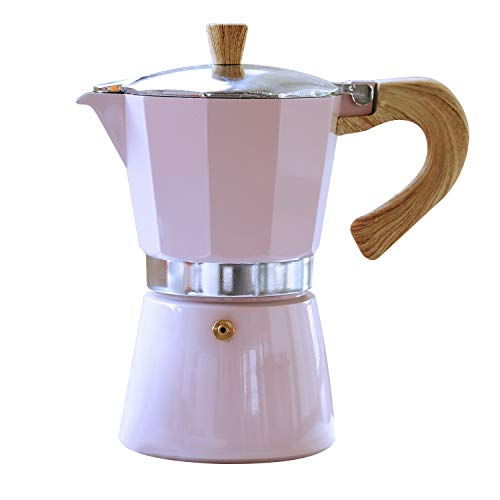 Gnali & Zani VEZ006/IND/PINK Venezia - Esspressokocher, rosa, 6 Tassen Espressokocher, Aluminium