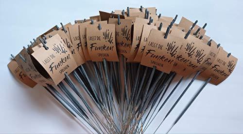 Hochzeitsdeko Wunderkerzen Vintage 30cm Hochzeit, Set 50 Stück