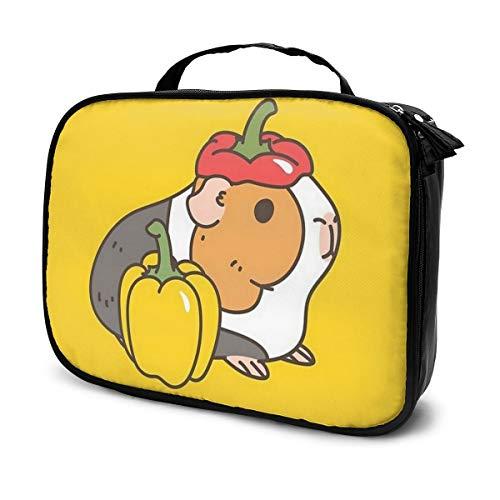 Make-up-Koffer, Kosmetiktasche, Gemüse, Obst, Kirsche, Tomaten und Meerschweinchen, Aufbewahrungstasche, professionell, tragbar, Make-up-Pinsel, Geschenkbox, groß