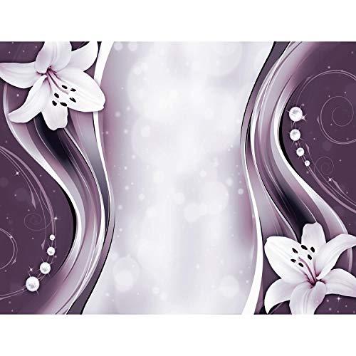 Runa Art Fototapete Blumen Lilien Modern Vlies Wohnzimmer Schlafzimmer Flur - made in Germany - Rosa 9180010b