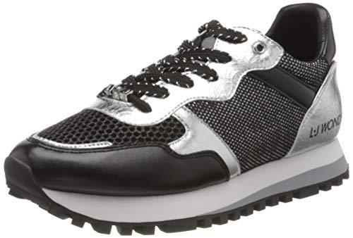 LIU JO Shoes LIU Jo Wonder 2.0, Zapatillas Mujer, Negro (Black 22222), 37 EU
