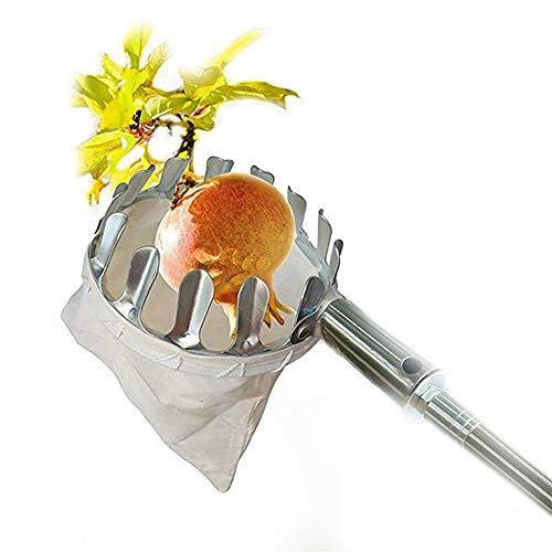 sets 4pcs Fruit Picker con Mango telescópico Apple Picker, con la Herramienta de Picking de la Fruta telescópica de la Bolsa, para Todo Tipo de Frutas