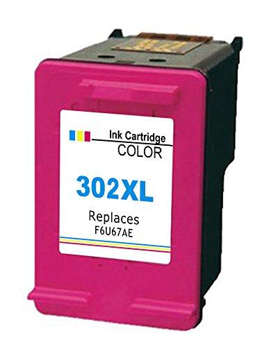 Ink_seller 1 Colore Rigenerata 302 XL Cartucce d'inchiostro Compatibile con HP 302XL DeskJet 1110 1115 2130 2132 3630 3632 3633 HP OfficeJet 3830 3831 3832 4651 4652 4654 HP Envy 4520 4521 4522 4527 4528