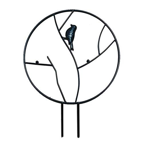Fenteer Metal jardín enrejado redondo planta enrejado para DIY macetas plantas trepadoras apoyo flor Rosa viñas Ivy plantas escalada Rack de Metal de hierro - 30cm negro