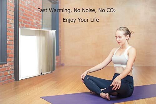 Infrarotheizung mit Thermostat Spiegelheizung Spiegel Heizung 450W Infrarot Wandheizung Bild 6*
