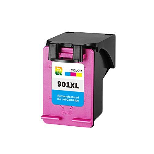 Cartuchos de tinta 901XL, cartucho de impresora de inyección de tinta compatible para HP DeskJet 1011 1511 2000 2050 Reemplazo de alto rendimiento para negro y color Color x1