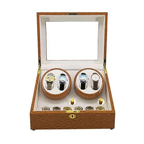 FFAN Enrollador de Reloj automático, Caja giratoria de 4 + 6 Relojes Regalo Hecho a Mano de 5 Modos - para Cajas de Almacenamiento de 10 Relojes (Color: B)