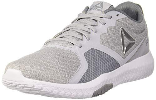 Reebok FLEXAGON Force, Zapatillas de Deporte Interior Hombre, Multicolor (Cold Grey/White/Neon Lime/Silver 000), 46 EU