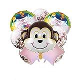 JJZS Balloon 10Pcs Animal Theme Balloon Set Acción De Gracias Cumpleaños Festival Fiesta Decoración Confeti Globos Suministros, C