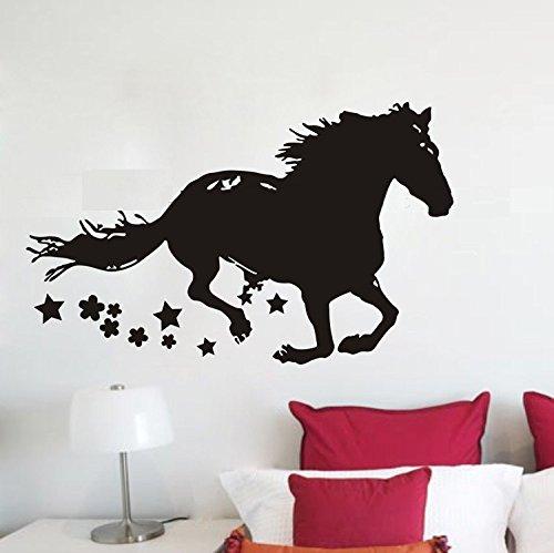 Clest F&H Laufendes Pferd Wandtattoo Wandaufkleber for Kinderzimmer Dekoration Baby-Kindergarten