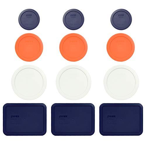 Pyrex (3) 7202-PC 1 taza azul (3) 7200-PC 2 tazas naranja (3) 7201-PC 4 tazas blanco (3) 7210-PC 3 tazas azul tapa de almacenamiento de alimentos de repuesto