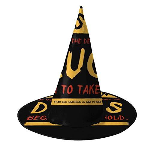 OJIPASD Fear and Loathing In Las Vegas Movie Opening Line Hexenhut Halloween Unisex Kostüm für Urlaub Halloween Weihnachten Karneval Party