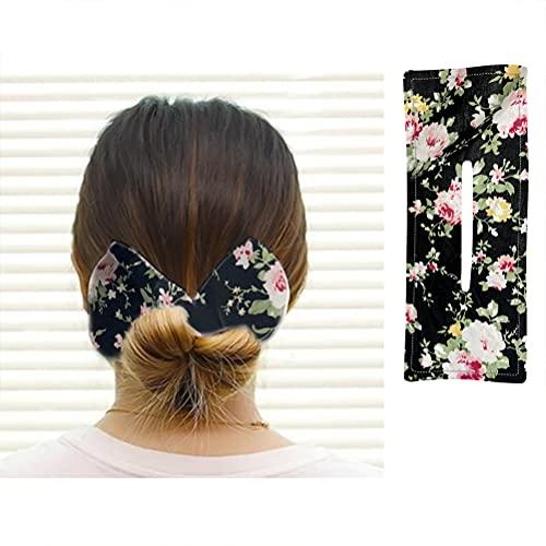 Pppby Hair Bun Maker Bow Deft Bun, Magic Hair Bun Maker, Hair Donut Bun Maker, French Bun Hair Band Styling Aid Hair Accessories DIY Multicolour Cloth Magic Clip for Women, Summer, Knots