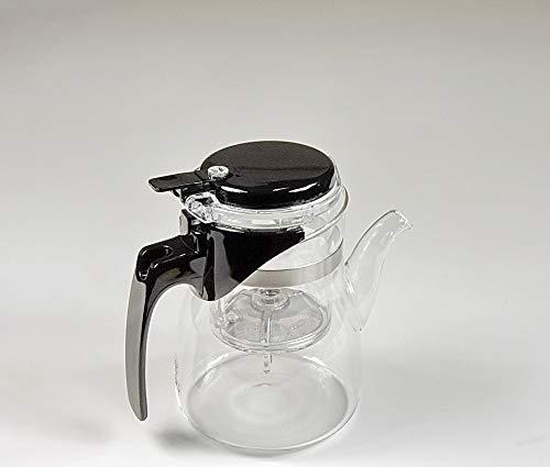 SAMA DOYO glazen theepot Samadoyo met infuser-technologie 900ml en vier theeglazen met handvat (150 ml)