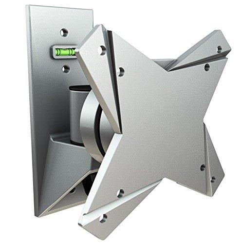 RICOO S1511 Monitor Halterung Schwenkbar Neigbar Universal 13-29 Zoll (33-74cm) TV Wandhalterung Curved LCD LED VESA 75x75 100x100 Silber