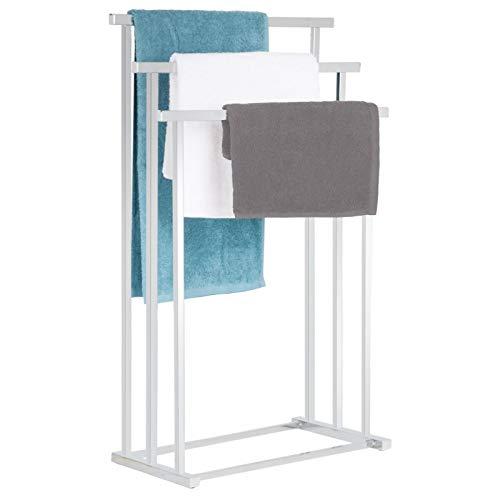IDIMEX Handtuchhalter Mattia mit 3 Badetuchstangen, Handtuchständer Handtuchstange Badetuchhalter, hochwertig verchromt