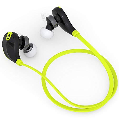 Vida IT Sports Auriculares Inalámbricos con Banda el Cuello, Auriculares Bluetooth Compatibles para iPhone Samsung Android Huawei Móvil, Ejercicio Gimnasio Correr, Música HD con Micrófono
