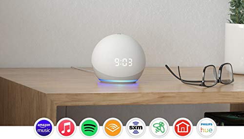 All-new Echo Dot (4th Gen) | Smart speaker with clock and Alexa | Glacier White $39.99 + Free Shipping Prime