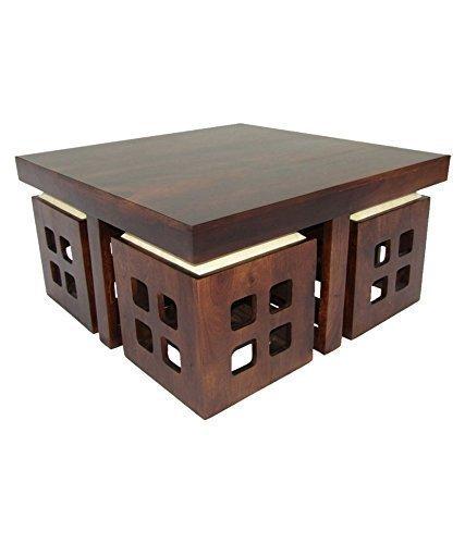 BG Furniture Sheesham Wood Center Coffee Table for Living R