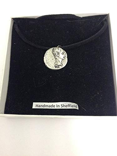 Augustus WE-C2 - Collar con colgante de moneda romana (41 cm)