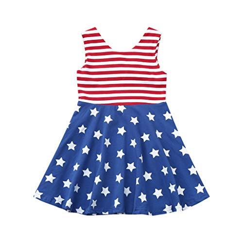 Janly Clearance Sale Falda de vestido para nias de 0 a 4 aos, para nias pequeas, 4 de julio, diseo de estrellas y rayas, bonito regalo para 3 a 4 aos, da de San Patricio (rojo)