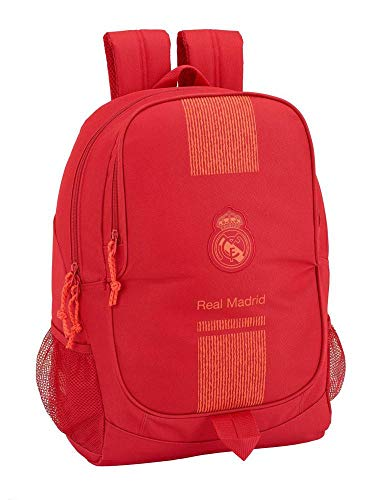 Real Madrid CF ST611957665 Mochila, Unisex niños, Rojo, Sin tañosllaños