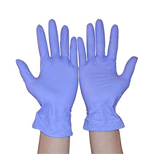 Einweg-Handschuhe aus Nitril, wasserfest, ölfest, für Zuhause, Restaurant, Küche, Schönheit, Labor, Handschuhe, blau, Größe: 100 Stück / Violett, Violett Small