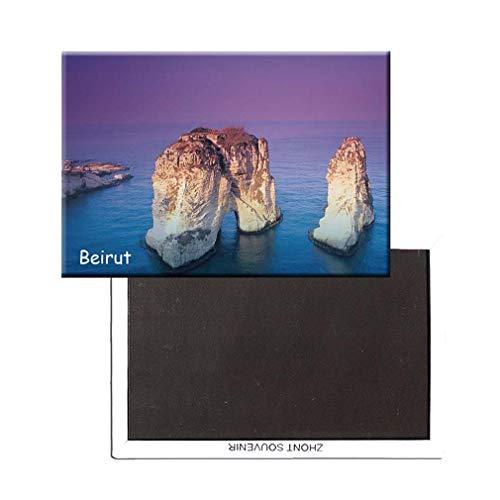 AccessCube Kühlschrankmagnet Libanon Beirut Landscape Kühlschrankmagnet Souvenir Magnet Sticker