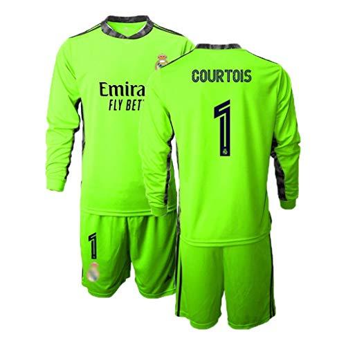 TT377 Fußball Sweatshirt Fußball Trainingsanzug 20-21 Madrid Torwart Sweatshirt # 1# 13 COURTOIS Atmungsaktiv Und Schweißabsorbierend