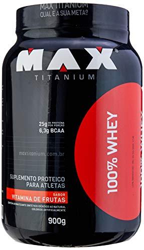 100% Whey (900G) - Sabor Vitamina de Frutas, Max Titanium